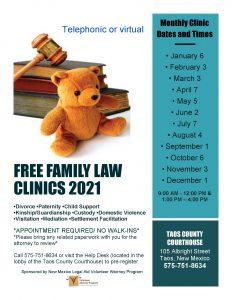 NEW FAMILY LAW CLINICS 2021 ENGLISH